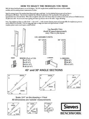 Sievers Benchwork Module Selection