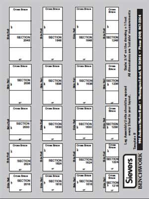 Sievers Benchwork Module Template